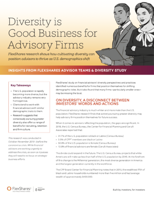 FlexShares - Diversity is Good Business for Advisory Firms